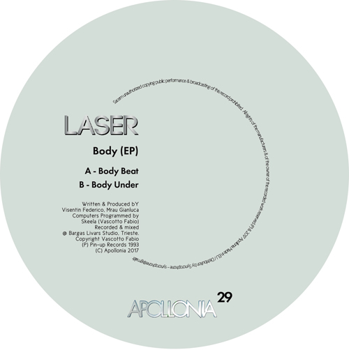 Apollonia Music repress Laser's 90's killer cut 'Body Beat'